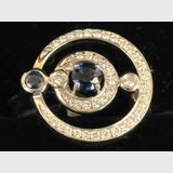 Sapphire & Diamond Ring | Period: New | Material: 9ct. gold, sapphires and diamonds