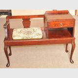 Cedar Telephone Table | Period: c1950 | Make: E Crafti | Material: Cedar