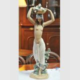 Lladro Statue | Period: c1971-4 | Make: Lladro | Material: Porcelain | Nude Statue signed by 'J Lladro'