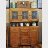 Unpainted Kitchen Dresser | Period: c1930 | Material: Pine & Leadlight | Original condition 1930s kitchen dresser