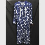 Navy & White Dress | Period: 1950s | Material: Cotton
