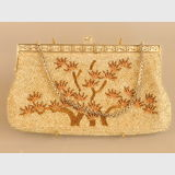 Beaded Evening Bag | Period: 1960s | Material: Beaded in silver and gold