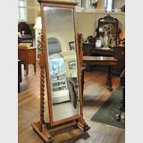 Full Length Cheval Mirror | Period: Edwardian | Material: English Oak.