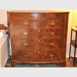 Bow Front Chest of Drawers | Period: Georgian c1830 | Material: Flame Mahogany