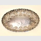 Sterling Silver Engraved Tray | Period: 1889 | Material: Sterling Silver