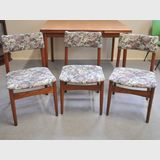 Set 6 Retro Chairs | Period: Retro 1960s | Make: Parker | Material: Teak