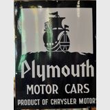 Plymouth Sign | Period: c1930 | Make: Simpson | Material: Enamel