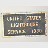 Lighthouse Sign   Material: Cast Iron