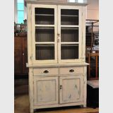 Pine Kitchen Dresser   Period: Edwardian c1910   Material: Cream painted pine.