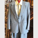 Men's Suit | Period: c1970s | Make: Flair | Material: Wool and polyester