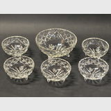 Crystal Bowl Set | Period: c1930s | Material: Cut crystal