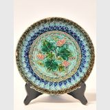 Majolica Plate | Period: c1850 | Make: Utz Schneider & Co. | Material: Pottery