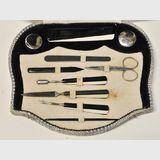 Cased Manicure Set | Period: Art Deco c1930s | Material: Bakelite handles