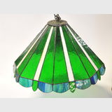 Retro Light Fitting | Period: Vintage c1970s | Material: Leadlight