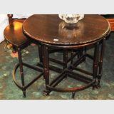 Rosenstengel Nest of Tables | Period: c1935 | Make: Rosenstengel | Material: Silky Oak