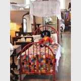 Red Single Hospital Bed | Period: c1910 | Material: Cast iron