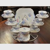 Shelley 21 pce Teaset | Period: c1930 | Make: Shelley | Material: Porcelain