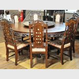 Massive Carved Dining Suite | Period: c1960s | Material: Teak