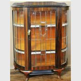 Leadlight China Cabinet | Period: Art Deco c1935 | Material: Walnut veneer