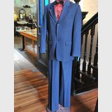 Pin Stripe Suit | Period: c1970s | Make: Fletcher Jones | Material: Wool blend