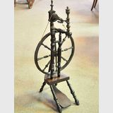 Spinning Wheel   Period: Georgian c1830   Material: Oak and other timbers