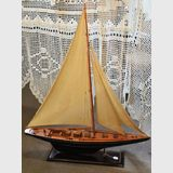 Model Yacht | Period: c1950s | Material: Timber & canvas