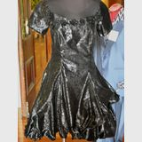 Black Party Dress | Period: c1980s | Material: Polyester