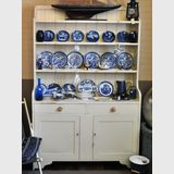 Large Kitchen Hutch/ Dresser | Period: Victorian c1890 | Material: Off-white  painted pine