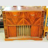 Radiogram | Period: 1950s | Make: Stromberg- Carlson | Material: Walnut veneer.