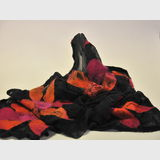 Felted Wrap / Scarf | Period: New | Make: Hand Crafted | Material: Merino wool, silk & mohair.