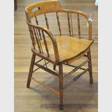 Captain Chair | Period: Edwardian c1910 | Material: Oak