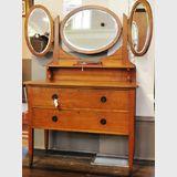 Maple Wing Mirror Dressing Table | Period: Art Deco c1920s | Make: F. Tritton | Material: Maple