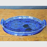 "Harvey School Tray | Period: 1927 | Make: Harvey School | Material: Pottery | Harvey School Dish Tray - Scraffito Decorated. Signed ""EW 1927""."