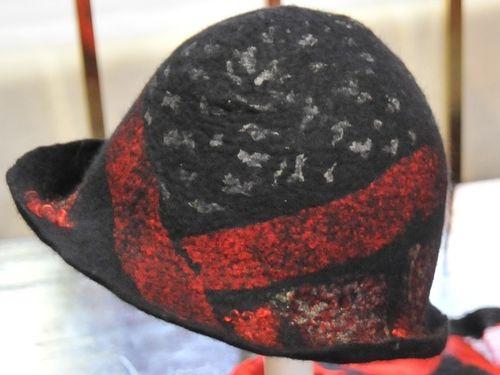 Cloche Hat | Period: New | Make: Felt by Vicki | Material: Silk and Merino Wool.