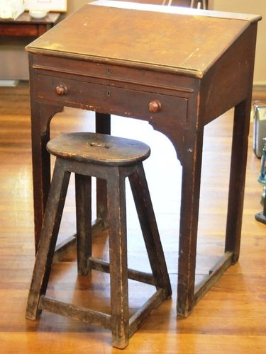 Clerk's Desk and Stool | Period: Victorian c1890 | Material: Cedar