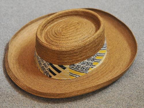 Men's Sun Hat | Period: c1980s | Make: Akubra | Material: Polyester straw