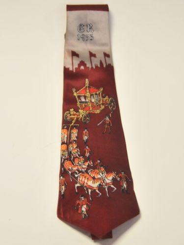 Coronation Necktie | Period: 1953 | Make: Grenville RegQ | Material: Satin