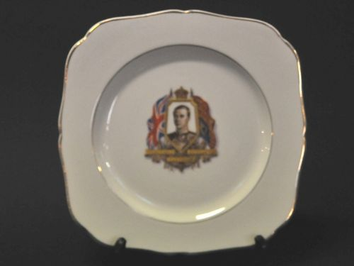 Commemorative Plate | Period: 1937 | Make: H & K Tunstall | Material: Porcelain