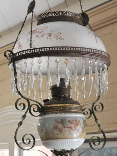 Hanging Light | Period: Victorian c1890 | Make: Miller | Material: Brass frame