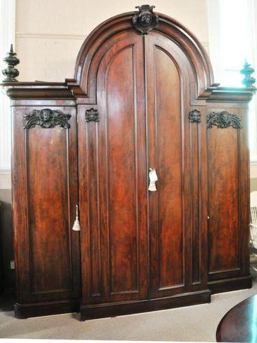 Massive Mahogany Wardrobe | Period: c1880 | Material: Mahogany