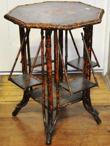 Bamboo Occasional Table | Period: Victorian c1890 | Material: Bamboo & papier mache