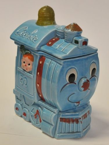 Train Cookie Jar | Period: Retro c1960s | Material: Porcelain