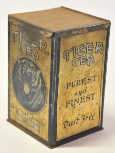 Tiger Tea Tin | Period: c1930s | Make: J. Rattray & Son | Material: Tin