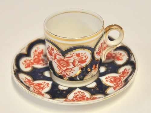 Wileman Coffee Can Duo | Period: Victorian 1884 | Make: Wileman & Co. | Material: Porcelain