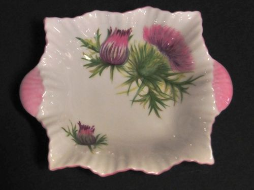 Shelley Thistle Dish | Period: c1960s | Make: Shelley | Material: Porcelain