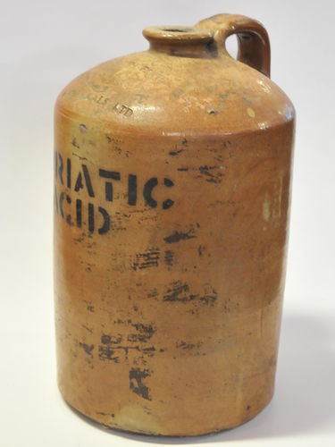 Muriatic Acid Demijohn | Period: c1900 | Make: Commonwealth Fertiliser & Chemicals Ltd | Material: Pottery