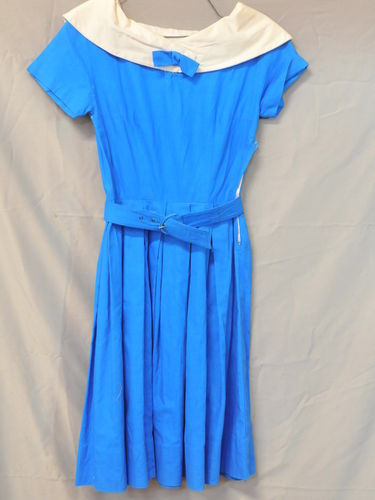 Sailor Dress | Period: c1950s | Make: Handmade | Material: Blue Cotton