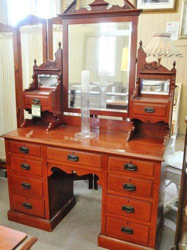 Dressing Table | Period: Victorian c1890 Art Nouveau | Material: Silky Oak