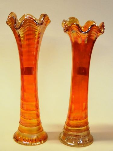 Carnival Glass Vases | Period: c1930s | Make: Northwood | Material: Glass