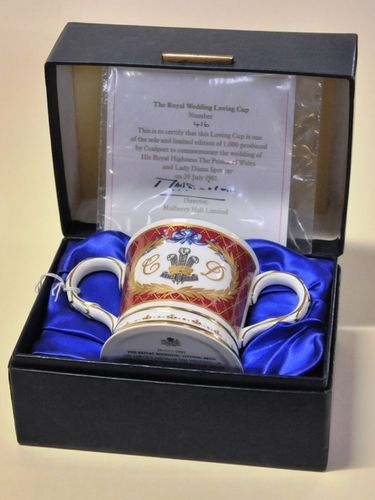 Royal Wedding Loving Cup | Period: 1981 | Make: Coalport | Material: Porcelain
